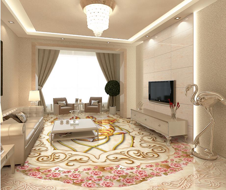 3d floor pvc waterproof floor 3d wallpaper floor for for 3d marble wallpaper