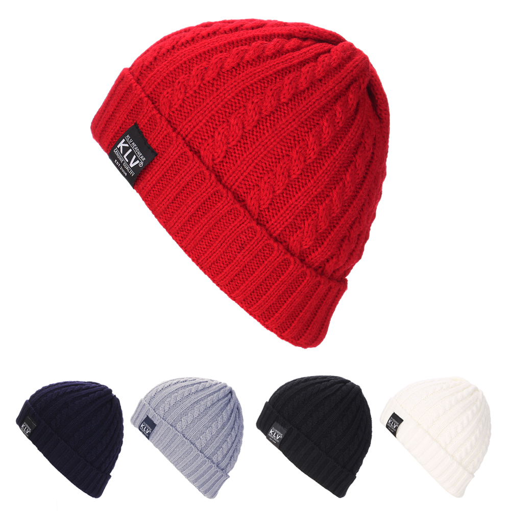 Letter KLV Casual Beanies for Men Women Fashion Knitted Winter Hat Solid Color Hip-hop Skullies Bonnet Unisex Cap Gorro DM#6 casual beanies men women fashion knitted winter hat solid hip hop skullies and beanies warm hats men bonnet unisex cap gorro de2