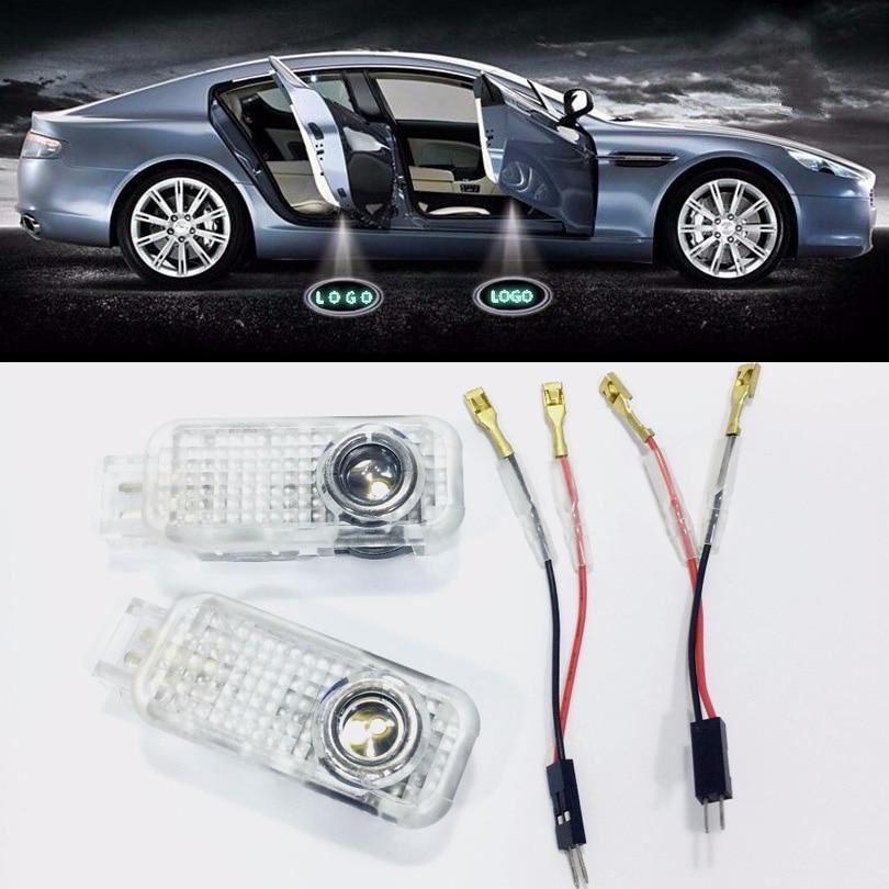 JingXiangFeng 2 pcs Auto LED Courtoisie Porte Projecteur de Lumière D'ombre de Fantôme Lumières cas Pour Audi A1 A3 A4 A6 A5 Voiture Intérieur Lumière