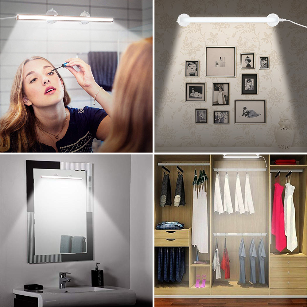 Led Makeup Mirror Vanity Light Bathroom Lamp Attached On Mirror Simulated Daylight Make Up Light Table Lamps Aliexpress