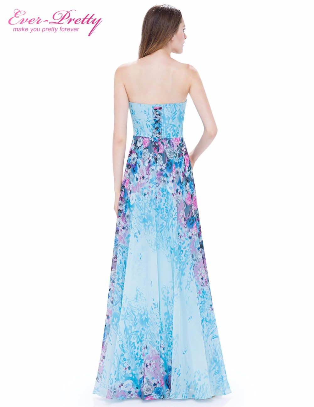 Ever Pretty New Arrival Floor Length Dress EP08944 Vintage Floral ... 232691178007