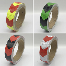 25mmx1m Safety Mark Reflective tape stickers car-styling Self Adhesive Warning Tape Automobiles Motorcycle Reflective Film