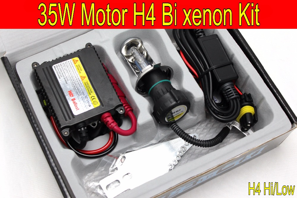 Free Shipping 1 set Top quality 35W H4 Hi/low bi xenon Motorcycle HID Xenon Conversion Kit,3000K,4300K,6000K,8000K,10000K