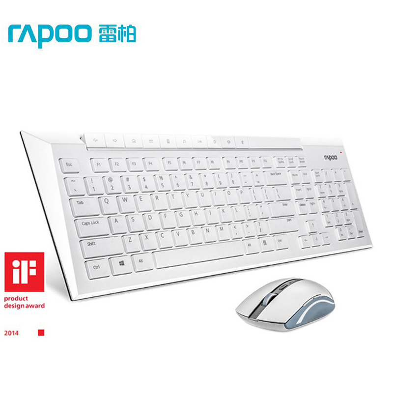 ФОТО Rapoo 8200p High Quality Original 5G Mouse Keyboard Multimedia Wireless Keyboard and Mouse Combo for Laptops Desktops PC