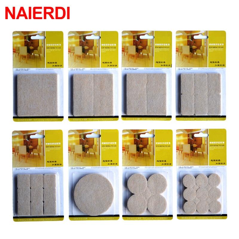 NAIERDI 2-32PCS Self Adhesive Mat Table Chair Round Furniture Leg Pad Protector Feet Floor Square Slip Mats Bumper Home Hardware