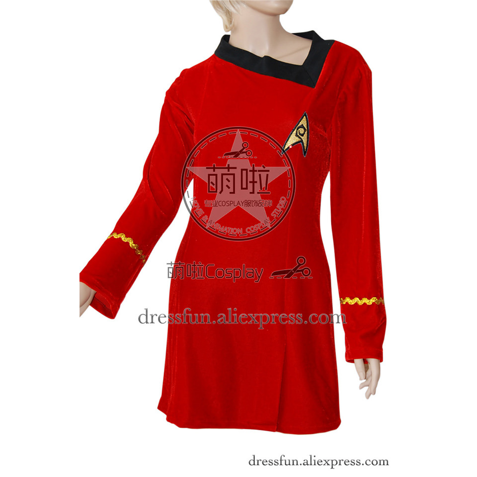 Star Trek Cosplay TNG The Next Generation Red Skant Dress Engineering Uniform Suit Outfits Halloween Fashion Party Fast Shipping