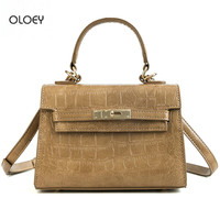 OLOEY Autumn winter new women Crocodile skin pattern bag Wild fashion crossbody shoulder bag Women's business handbag