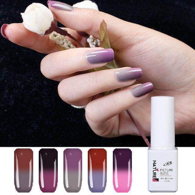 Natur Bild 60 Farbe Temperatur Farbwechsel UV Gel Nagellack 2018 New Direct Selling Nail Art ...