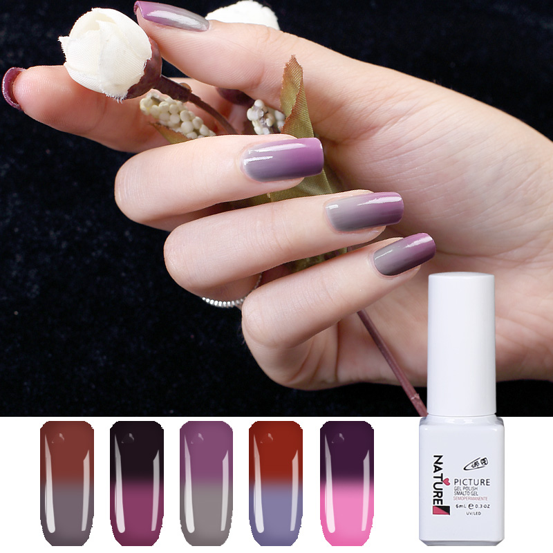 Nature Picture 60 Color Temperature Changing UV Gel Nail Polish 2018 ...