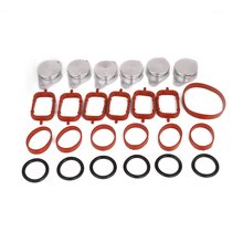6pcs 32mm Aluminum For BMW Seal Durable Bungs Intake Manifold Suit Swirl Flaps with Intake Manifold Gasket(China)
