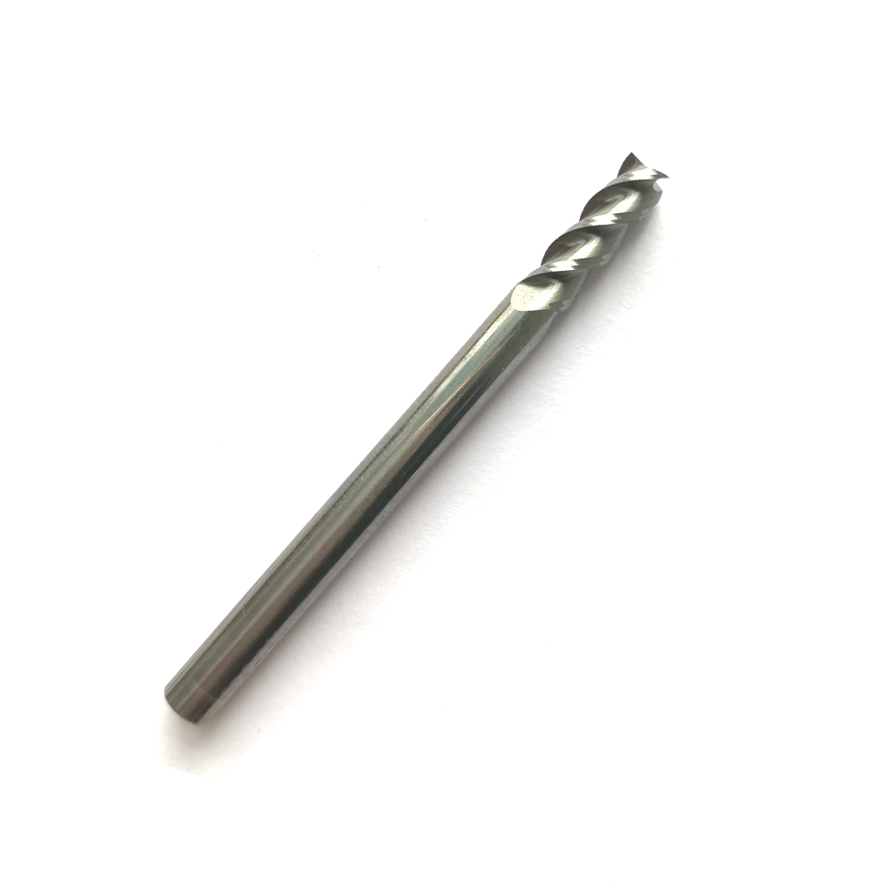 1mm 2mm 3mm 4mm 5mm 6mm 8mm 12mm HRC45 3 Flutes Milling cutters for Aluminum solid