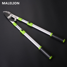 High Quality Tool Thick Branch Shears Aluminum Alloy Telescopic Large Curved Knife Long Handle Fruit Tree Scissors Garden Tools
