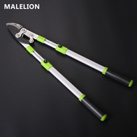 MALELION September New Aluminum Alloy Telescopic Large Curved Knife Vigorously Cut Long Handle Fruit Tree Scissors Garden Tools