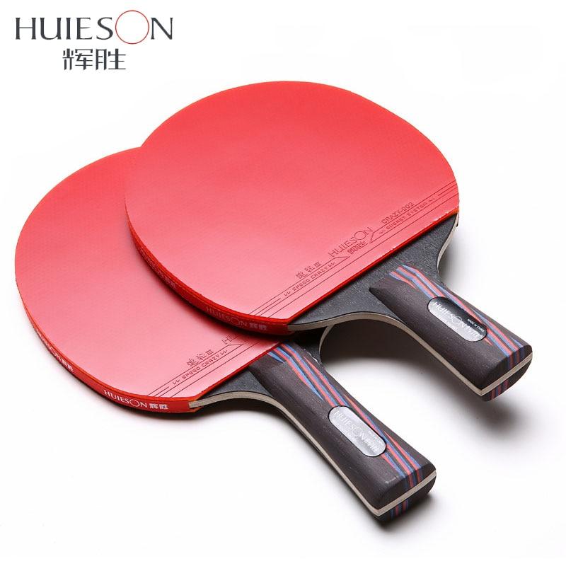 Huieson Carbon Fiber Table Tennis Racket Double Face Pimples In Racket Rubber Table Tennis Bat With