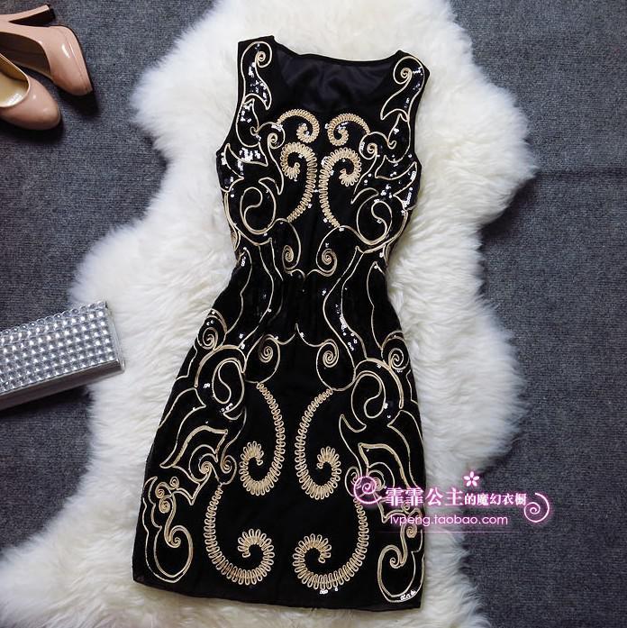 Вышивка блесток размера плюс сексуальные винтажные Элегантные дешевые короткие женские черные летние Коктейльные платья Coctail платье платья для вечеринок - Цвет: blackbeige