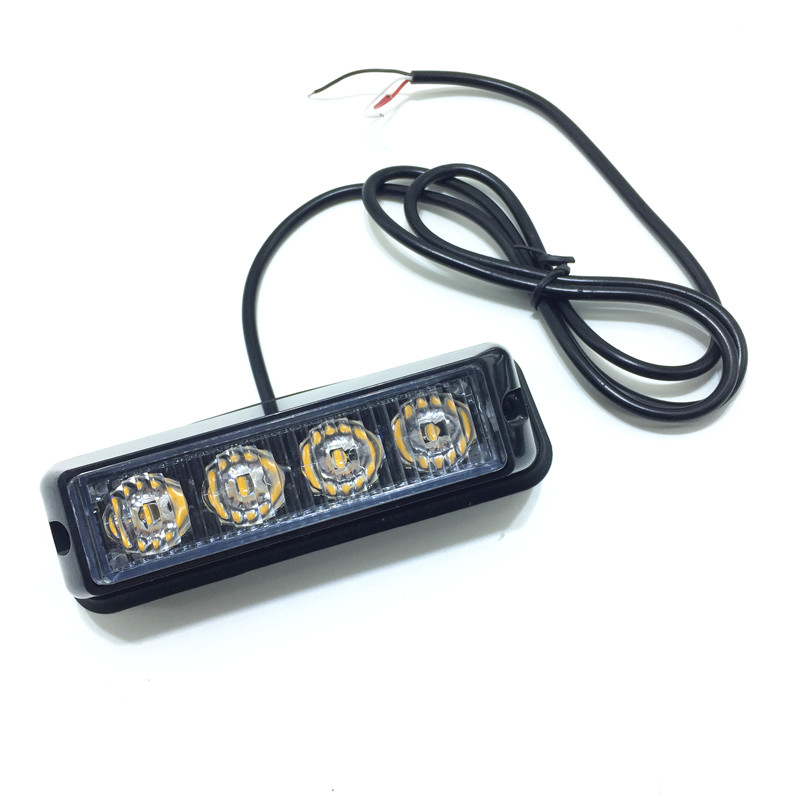 (2pcs/lot) 4LED 6LED Waterproof Car Truck Flashing Warning Light LED Emergency Light Hazard led Strobe Lights Beacon 12V/24V
