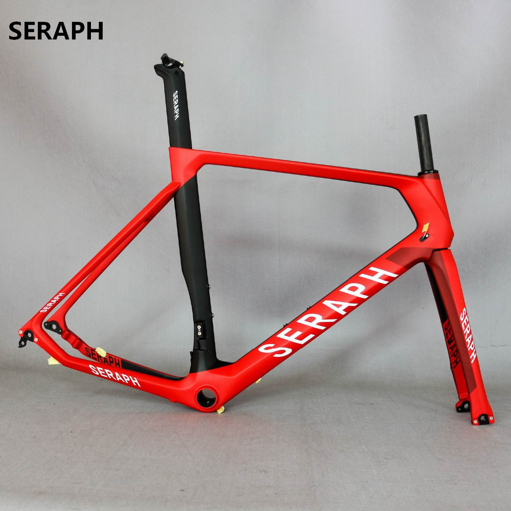 2018 Full Carbon Road Bike Frame, Carbon Road Frame Disc Brake Fit For 28C Tires With Flat Mount . OEM Famous Brand . ODM Brand