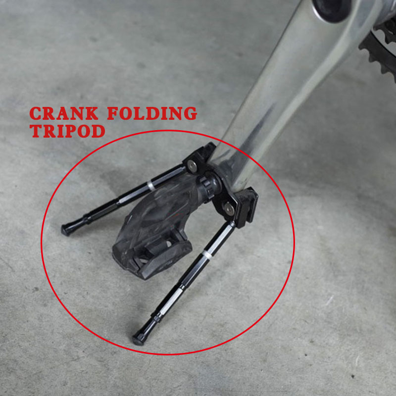 Mountain Bike Road Vehicles Tripod Bicycle Parking Rack Crank Foot Support Crank Folding Foot Support Tripod