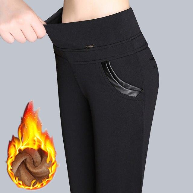 Pus Size 6XL Leggings Autumn Winter Plus Velvet Leggings Women High Waist Skinny Legging Long Pants Warm Winter Leggings C3834