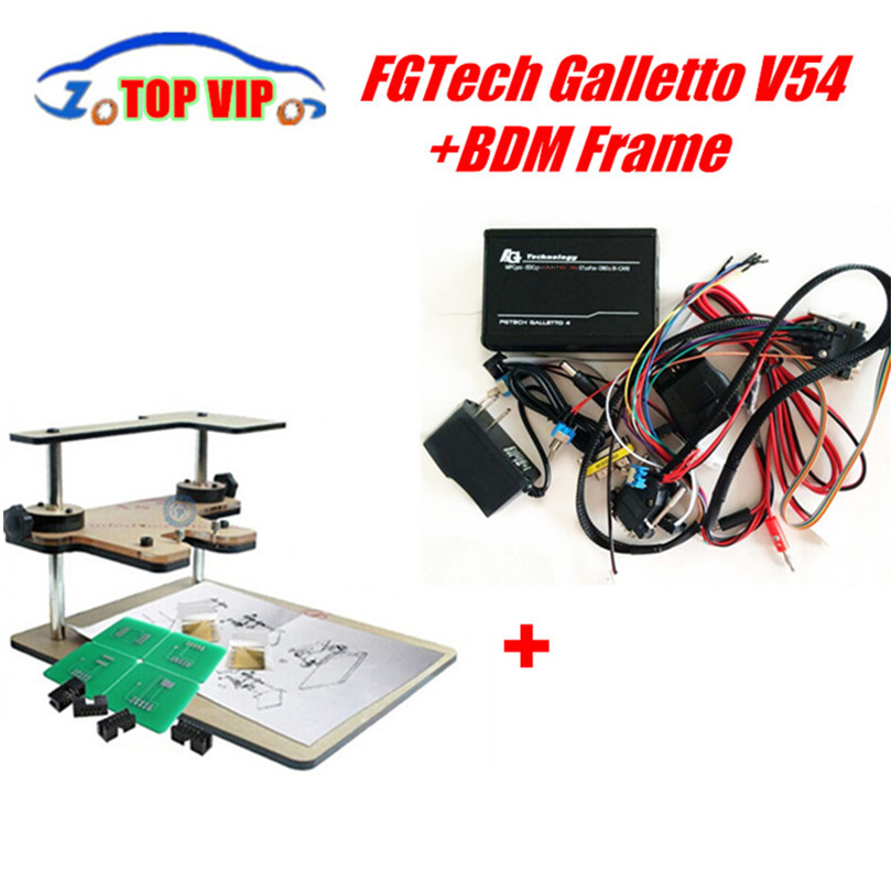 A++ Quality Fgtech V54 Galletto 4 Master Plus BDM FRAME With Adaptors Set Fit FGTECH DHL Free Shipping