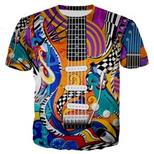 Guitar art Musical instrument 3D full printing fashion tee 3D print hip hop style Hoodie/Sweatshirt/Zipper casual style-1