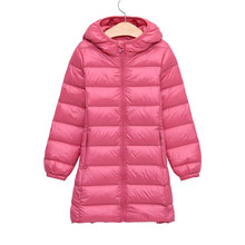 Child Girl Winter Jackets For Girls Children's Autumn Winter Coat Clothing Kid Hooded Thin Down Jacket Parka Long Style 4-14Year