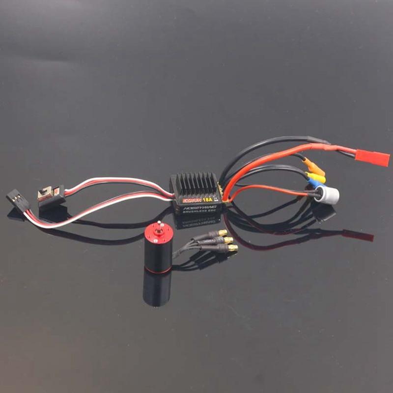 RC 1625 brushless inrunner motor + hobbywing EZRUN 18A ESC combo for RC 1/24 1/28 cars brushless upgrade