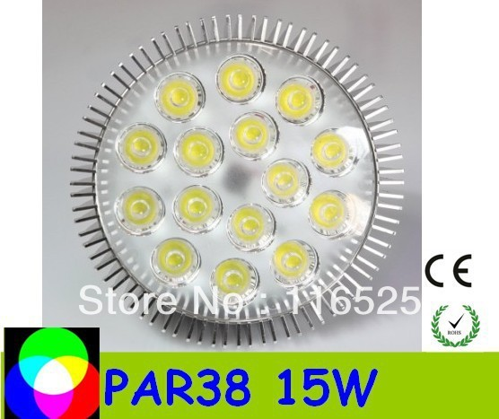 promotion - PAR38 15W E27 base Led Spotlight Bulbs Led Lamp free delivery high quality factory price 85-265V 20pcs /lot
