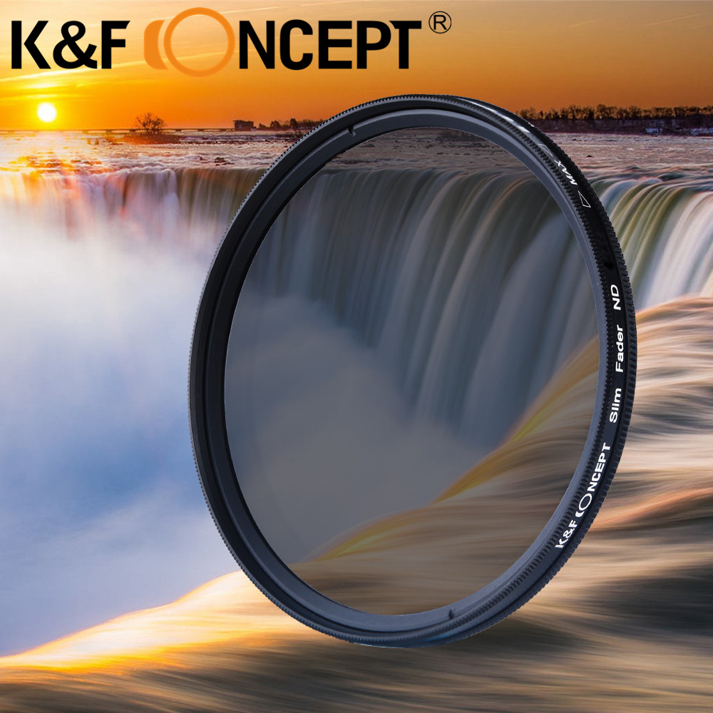K&F CONCEPT Adjustable ND Full Size Camera Lens Filter Neutral Density ND2-ND400 Filter Kit For Canon,Nikon,Sony,Tamron,Sigma