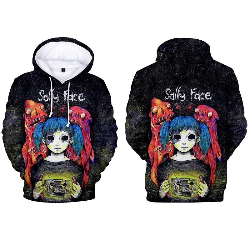 Sally Face Hoodies Sweatshirts Men Women Hoody 3D Printed Hoodie Coat Hooded Jacket Pullovers Game Sallyface Cosplay Costume