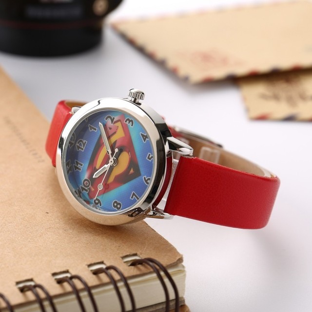Superman Children Watch Fashion Watches Quartz Wristwatches Waterproof Jelly Kids Clock boys girls Students Wristwatch Regarder