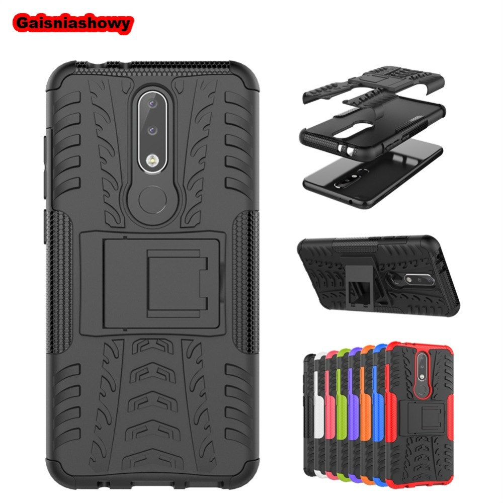<font><b>Case</b></font> For <font><b>Nokia</b></font> 6.1 1 2 3 5 6 8 <font><b>3.1</b></font> 5.1 7.1 Plus X3 X5 X6 X7 3.2 4.2 Shockproof Armor <font><b>Hard</b></font> PC Silicone Phone <font><b>Case</b></font> Cover Shell image