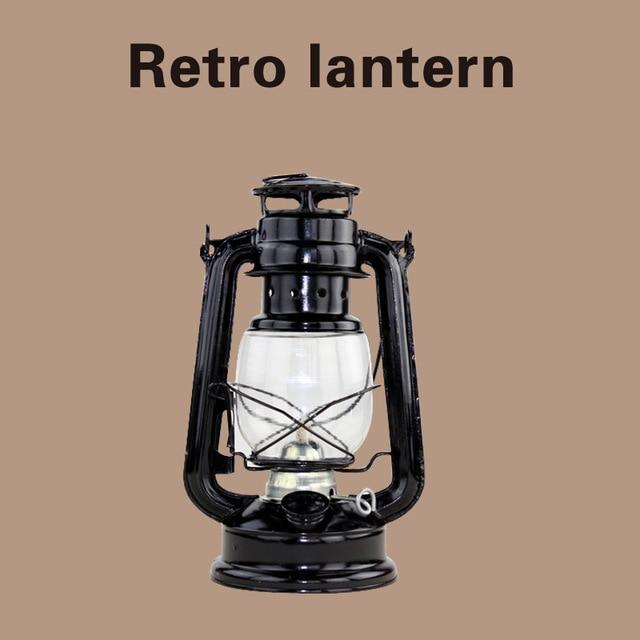 Portable Antique Oil Lamp Retro Iron Candlestick Candelabras Chandelier Candle Holder Kerosene Alcohol Lamps