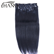 Remy Virgin Brazilian Hair Clip In Extensions 120G Clip In Brazilian Hair Extensions 1B Black Clip In Human Hair Extensions