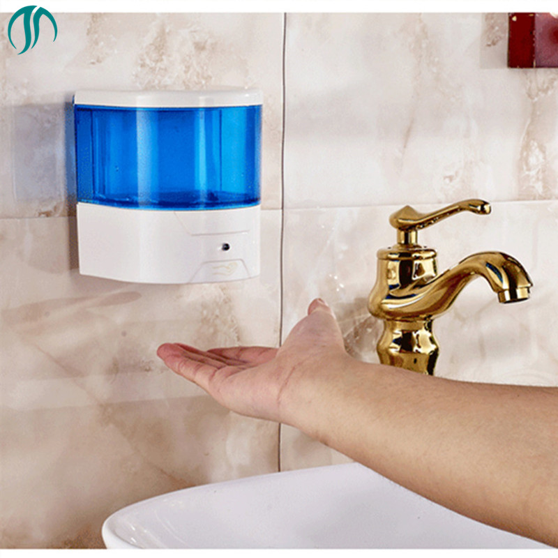 600ml Sensor Liquid Dispenser Pump Touchless Soap Dispenser Mason Jar Dispensers Transparent Automatic Soap Dispenser Auto mason liquid calcium 1 200 mg with d3 400 iu 60 softgels