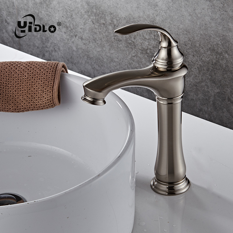Basin Faucets White Color Basin Mixer Tap Bathroom Chrome Faucet Hot and Cold Chrome Finish Brass Toilet Sink Water Crane Gold in Basin Faucets from Home Improvement