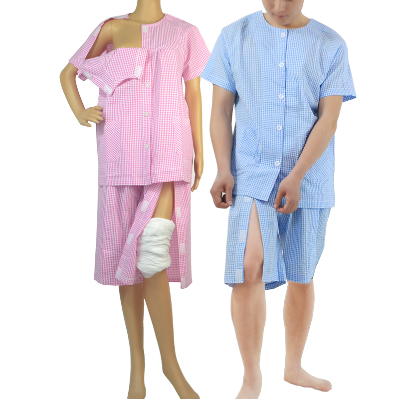 Suited Hot Weather Wear Hospital Gown , Bedridden Patients,Suit For Bedridden Patients, Postoperative , Elderly, Fracture Patien