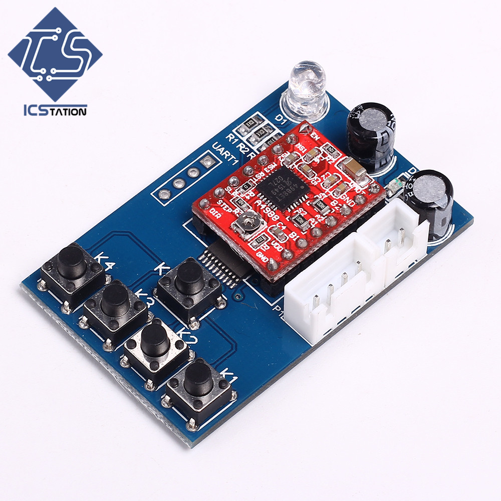 12V Stepping Two-Phased Motor Driver Key Speed Control Board 0.1-1.2A Adjustable with Speed Controlling Board
