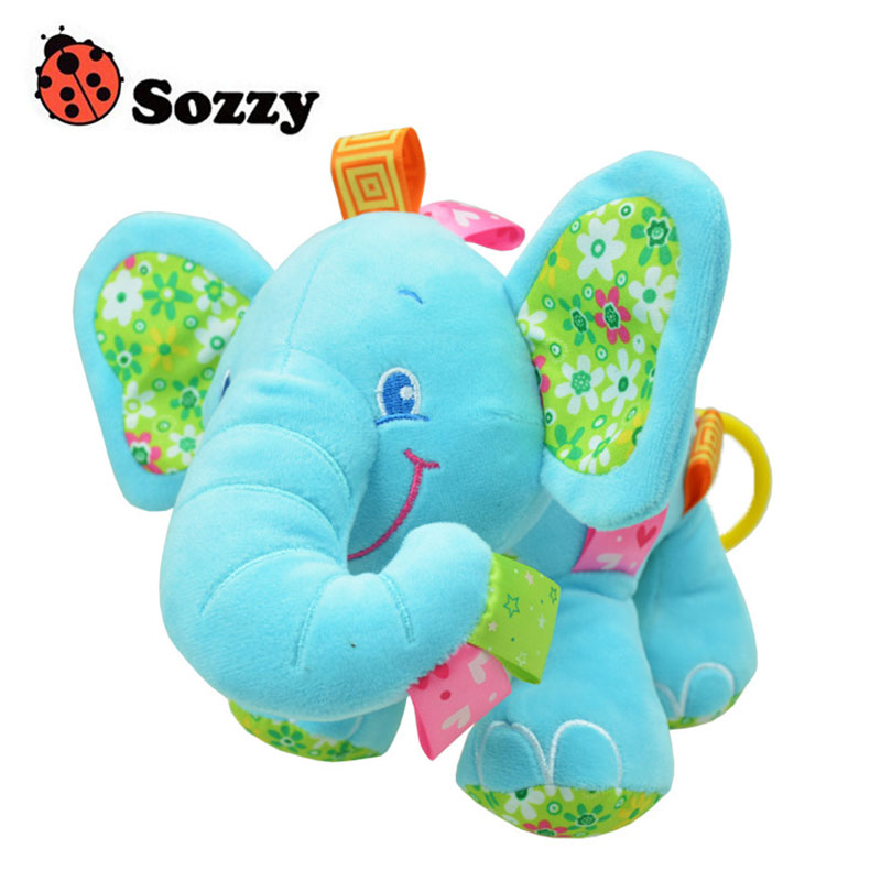 Children Plush Toys Cute Elephant Soft Baby Crib Bed Hanging Hand Rattles Newborn Infant Appease Toy Girl Boy Gift 88