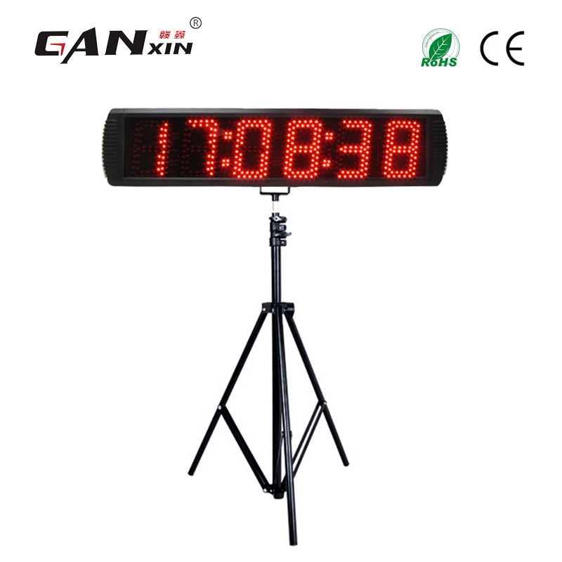Ganxin 5 6 digits LED countdown clock with Tripod for Semi outdoor Outdoor use