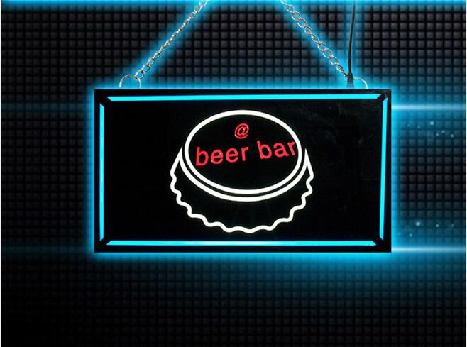 Beer neon sign bar Remote control on/off switch LED Resin Epoxy light box  цены