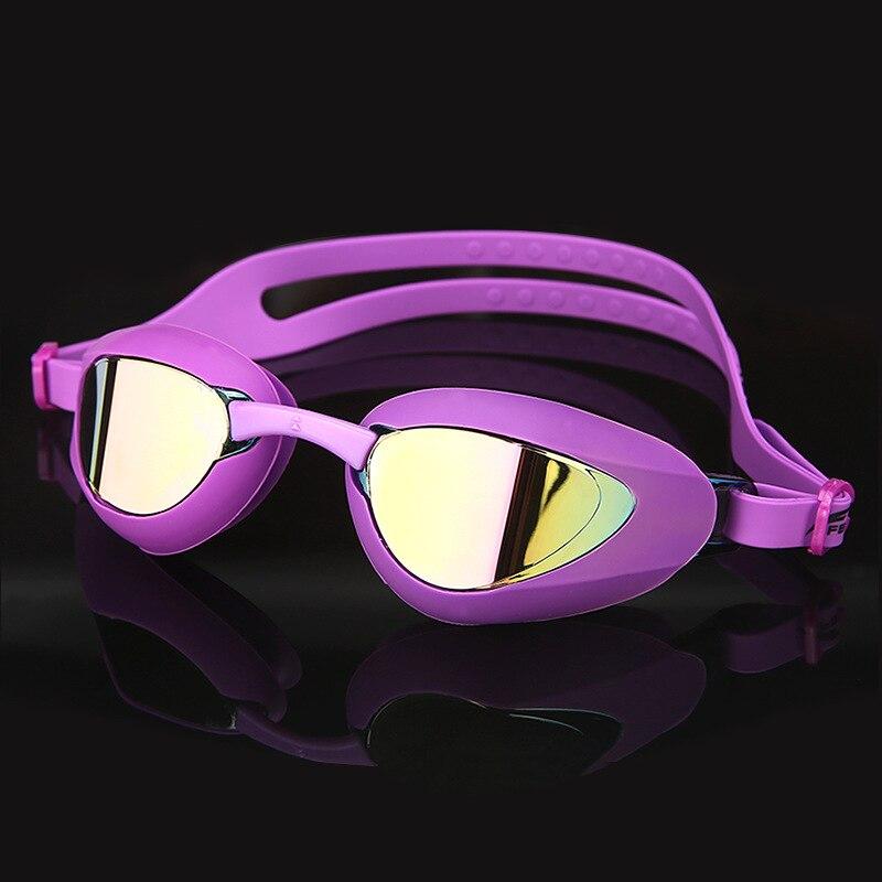 5bb14eb5674b Profesional gafas de natación impermeable suave de silicona Anti-niebla UV  nadar Google adulto ...