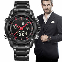 Mens Watches Top Brand Luxury NAVIFORCE Men S Quartz Watch Analog Digital LED Sports Watch Men