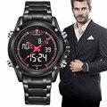 Mens relojes de lujo superior de la marca naviforce reloj análogo de cuarzo de los hombres led digital reloj de los deportes de los hombres del ejército militar reloj de pulsera relojes