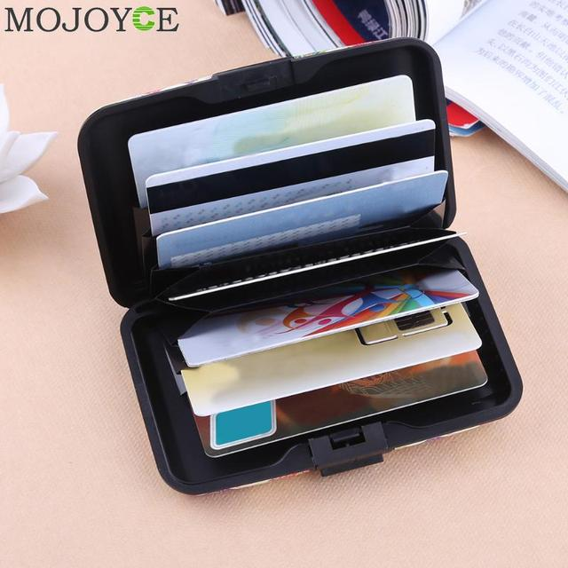 7 Pocket Women Card Holder Aluminum Waterproof Name Box Credit Case Business Cards