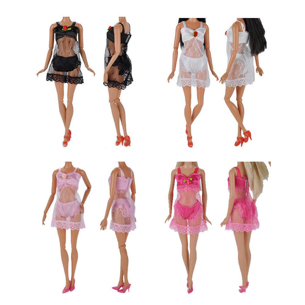 Conjuntos de Cores Sortidas 4 Moda Menina Boneca de Brinquedo Da Praia do Verão Maiôs Biquíni Roupas Acessórios para Barbie Crianças Brinquedos Presentes