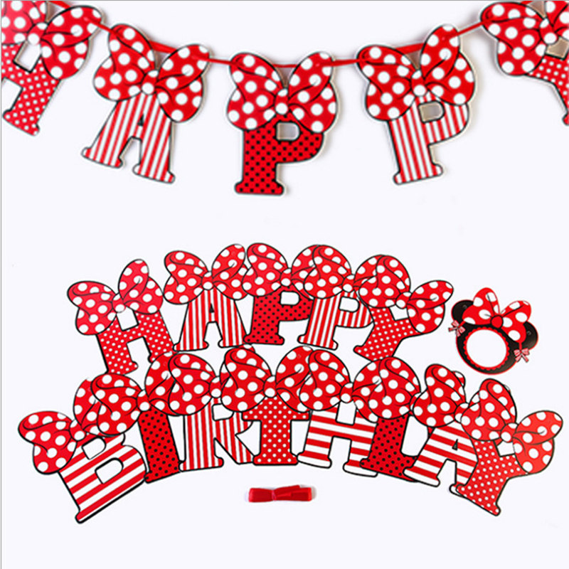 Mickey Mouse Clubhouse Happy Birthday Paper Letter Banner 1.95 m NEW