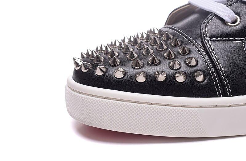 Moda Show Lace De Homens Calçados Fundo Rebite Luxo Da up Marca As Top Plus Vermelho Size Casuais Boate Grosso Sapatos Alta Boot Ankle Preto Unisex RtSUA7