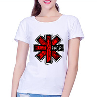 Free Shipping Rock Band Red Hot Chili Peppers Women Short Sleeves Women S Hip Hop T
