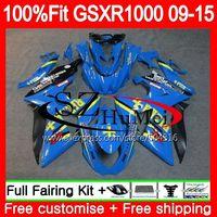 Обтекатель для SUZUKI GSX R1000 K9 GSX R1000 rizla Blue 39SH5 GSXR1000 09, 10, 11, 12, 13, 15 лет GSXR 1000 2009 2010 2011 2012 2014 2015